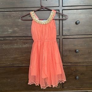 Girls coral dress 🌻